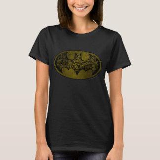 Schädel Batman-Symbol-  im Schläger-Logo T-Shirt