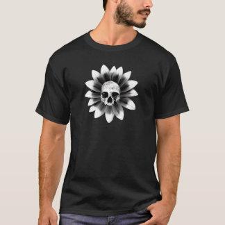 Schädel-Blume T-Shirt
