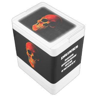 Schädel der Flammen cooler Igloo Kühlbox