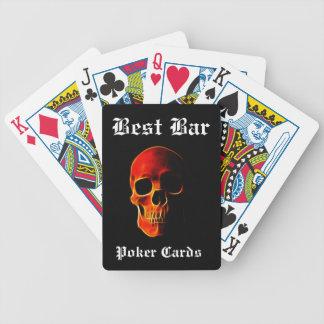 Schädel der Flammen-Kasino-Qualitäts-Karten Bicycle Spielkarten