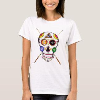 Schädel des Billard Zucker T-Shirt
