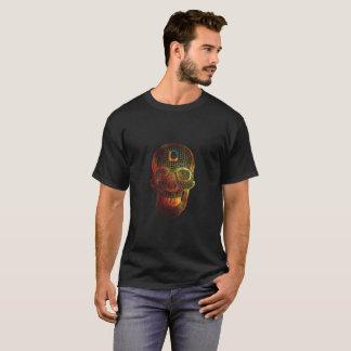 Schädel des Feuer-3D T-Shirt