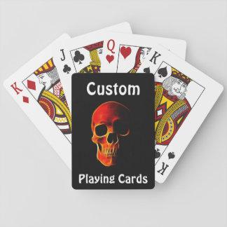 Schädel des Flammen-Pokers kardiert Schablone Spielkarten