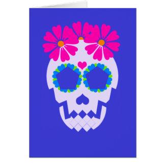 """Schädel """"Feliz Día De Los Muertos!"""" Gruß-Karte Karte"""