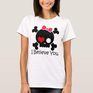 Schädel I glauben Ihnen, den grundlegenden T - T-Shirt