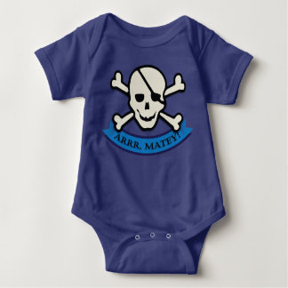 Schädel - Königsblau-Baby-Jersey-Bodysuit Baby Strampler