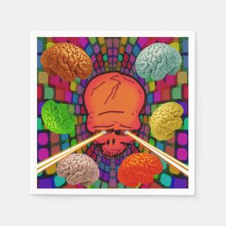 Schädel psychedelisch papierservietten
