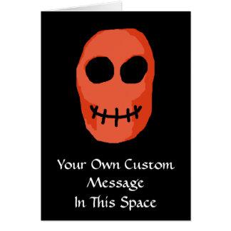 Schädel rot und schwarz. Ursprüngliche Art Karte