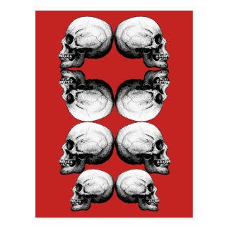 Schädel-schützen sich vorgerückte postkarte