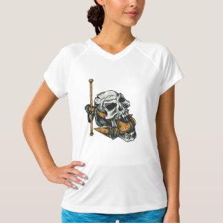Schädel Sport-Tek angepasster Leistung V-Hals T - T-Shirt