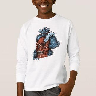 Schädel Tagless ComfortSoft® langer Hülsen-T - T-Shirt