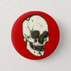 Schädel Totenkopf skull Runder Button 5,7 Cm