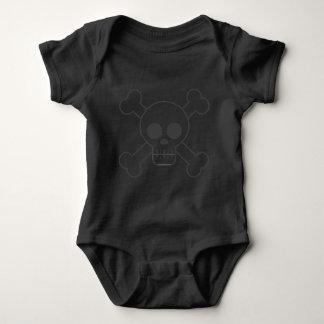 Schädel u. Knochen-Baby-Anzug Baby Strampler
