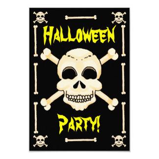 Schädel-u. Knochen-Halloween-Party-Einladung Karte