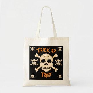 Schädel-u. Knochen-Halloween-Taschen-Tasche Budget Stoffbeutel