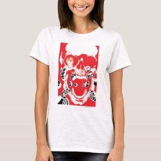 Schädel und Ringe - Rot T-Shirt