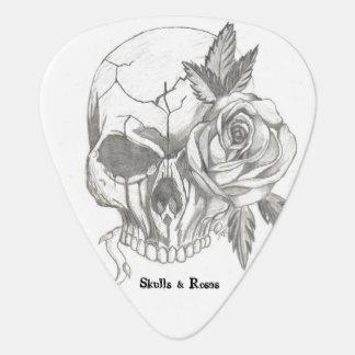 Schädel und Rosen personalisiert Plektrum