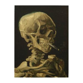 Schädel Van Gogh   mit brennender Zigarette   1886 Holzdruck