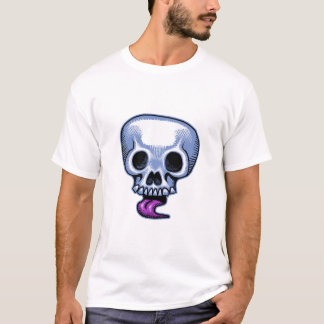 Schädel-Zunge T-Shirt