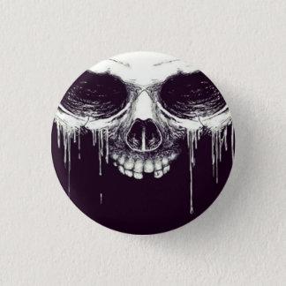 Schädelknopf Runder Button 2,5 Cm
