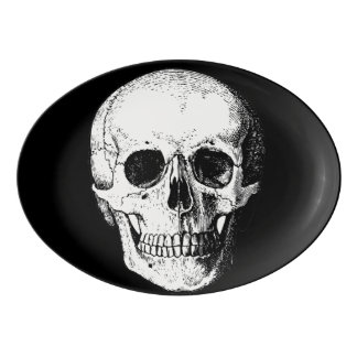 Schädelservierplatte Porzellan Servierplatte