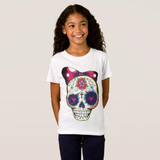 Schädelt-shirt der Mädchen neues Schulzucker T-Shirt