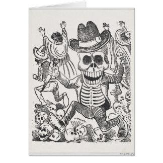 Schädeltinte, die Halloween-Grußkarte zeichnet Karte