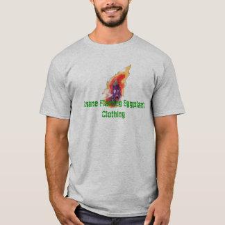 Schädigendes geisteskrankes loderndes T-Shirt