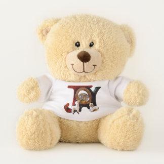 Schafe, die Baby-Jesus-Freude betrachten Teddybär