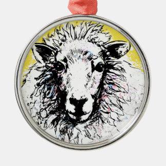 Schafe Silbernes Ornament