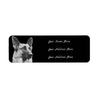 Schäferhund-Adressen-Etiketten