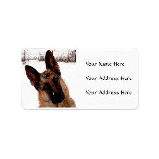 Schäferhund-Adressen-Etiketten Adressaufkleber