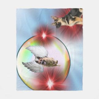 Schäferhund-Engels-Fliegen Fleecedecke