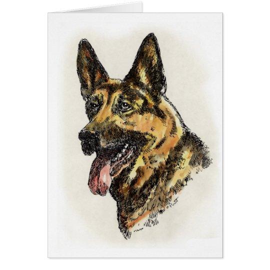Schäferhund-Farbe Grußkarte