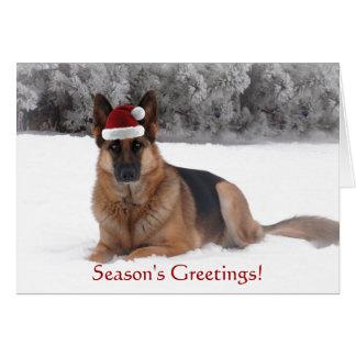 Schäferhund-Feiertags-Gruß Grußkarte