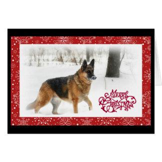 Schäferhund-Feiertags-Gruß Karte