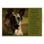 Schäferhund-Geburtstags-Karte für Vati