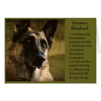 Schäferhund-Geburtstags-Karte für Vati Grußkarte