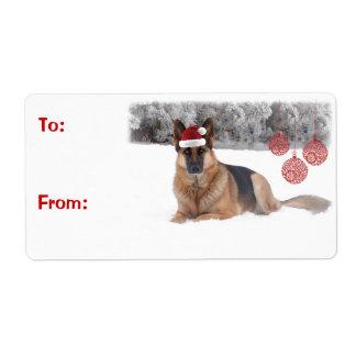 Schäferhund-Geschenk-Aufkleber