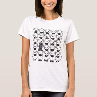 Schäferhund-Hund in den Schafen T-Shirt