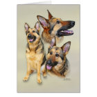 Schäferhund-Hund Karte