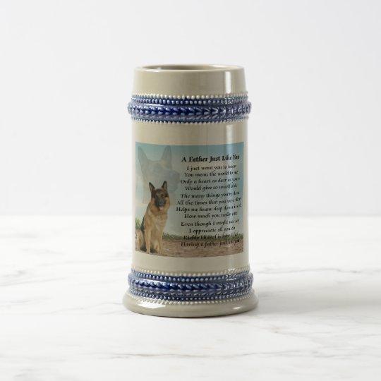 Schäferhund-Hundevater-Gedicht Stein Bierglas
