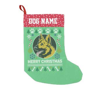 Schäferhund-Hundezucht-hässliche Kleiner Weihnachtsstrumpf