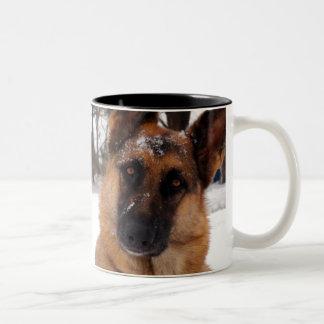 Schäferhund-Kaffee-Tasse Zweifarbige Tasse