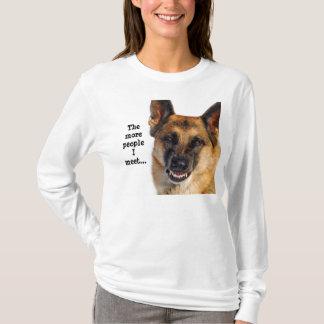Schäferhund-lang Sleeved T - Shirt