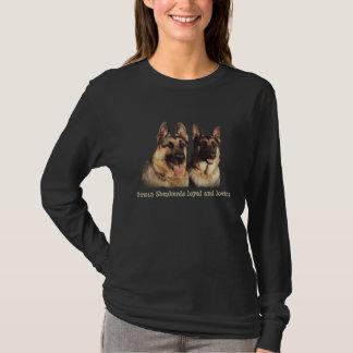 Schäferhund-loyales und liebevolles Shirt
