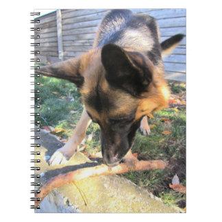 Schäferhund-Notizbuch Spiral Notizblock