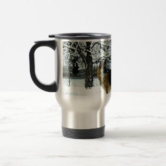 Schäferhund-Pendler-Kaffee-Tasse Reisebecher