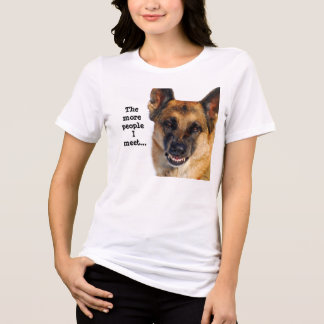 Schäferhund plus Größen-T - Shirt