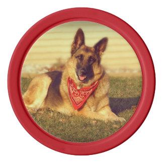 Schäferhund Poker Chip Set